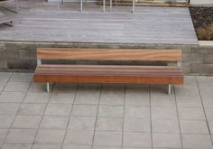 Public bench / contemporary / wood / steel WOODY by David Karásek & Radek Hegmon  mmcité 1 a.s.