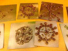 macaroni snowflakes -Grades 1-2.