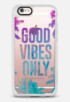 Tropical Summer Good Vibes Only - New Standard Case in Clear and Clear by @hyakume | @casetify