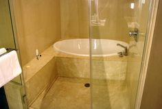 aria hotel tub and shower - Google Search