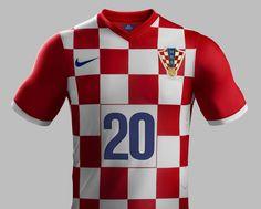 Croatia 2014 World Cup Home Kit
