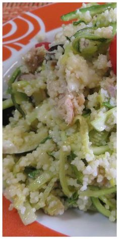 Cous cous alle zucchine, in versione fredda altrettanto gustoso! #couscous #zucchine #ricettegustose