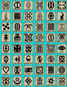 From somewhere in Africa, symbols