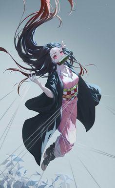 Kamado Nezuko - Kimetsu no Yaiba - Image - Zerochan Anime Image Board Demon Manga, Manga Anime, Art Manga, Fanarts Anime, Otaku Anime, Anime Angel, Demon Slayer, Slayer Anime, Kawaii Anime Girl