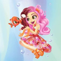 Clarita Clownfish is a and toy-only character. Clarita knows the coral reefs better than any of the other Enchantimals. Lol Dolls, Cute Dolls, Cute Cartoon, Cartoon Art, Shoppies Dolls, Sea Flowers, Funny Phone Wallpaper, Beautiful Fairies, Anime Art Girl