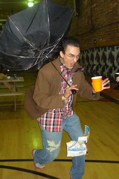 17 Halloween Costumes That Are Actually Clever: guy in a hurricane