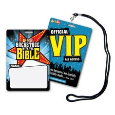 """""""Backstage With The Bible"""" VIP Pass & Lanyards (20-pack) - Backstage With The Bible - VBS Curriculum & Resources"""