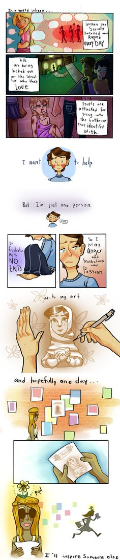 This story is like me I want to help but people say I can't freakin do it but I can change the world 4 Panel Life, Cute Comics, Sad Comics, Comics Story, Short Comics, Me Anime, Faith In Humanity Restored, Stop Bullying, Wow Art