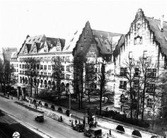 The Palace of Justice, Nuremberg, Bavaria, Germany. The Nuremberg Trials were held here by the Allied forces of World War II in 1945-46.