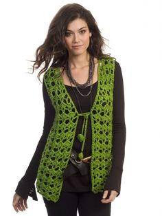 Mary Kate Vest | Yarn | Free Knitting Patterns | Crochet Patterns | Yarnspirations