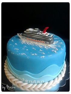 Cruise ship cake.