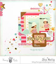 #papercrafting #scrapbook #layout - Fancy Pants Designs Studio