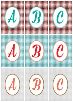 FREE printable alphabet letters : monograms | Positively Splendid