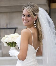 wedding hair with veil half up - Google Search