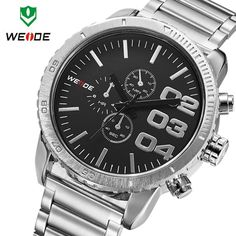 Find More Casual Watches Information about WEIDE watch of men quartz watch military watch with calendar leather strap men sports wristwatch water resistant free shipping,High Quality watch band tool link pin remover,China watch quartz Suppliers, Cheap watch locator from Headphone Mart on Aliexpress.com