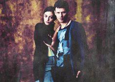 Klaus (Joseph Morgan) and Hayley (Phoebe Tonkin)