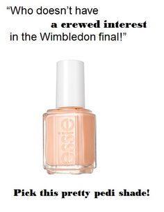 It's all about Wimbledon this weekend. That's #game #set #match Give yourself a coral pedi with 'a crewed interest' #coral #nails