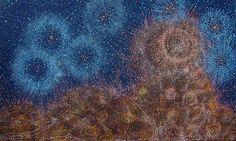 Warlpiri artist, Alma Nungarrayi Granites, paints Jukurrpa, Star Dreaming stories of the Seven Sisters, call Ian - 61 8 9335 8265 at Japingka Gallery Aboriginal Art Australian, Indigenous Australian Art, Terra Australis, Sky Art, Night Skies, Granite, Art Prints, Originals, Painting