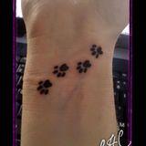 Paw Print tattoo.