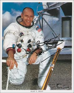 Alan LaVern Bean (born March 15, 1932) is a former NASA astronaut & painter. He was selected to become an astronaut in 1963 as part of Astronaut Group 3. He made his first flight into space aboard Apollo 12, second manned mission to land on Moon, at  age of 37 in November 1969. During this mission, Bean became fourth human to walk on Moon. He made his second & final flight into space on Skylab 3 mission in 1973, second manned mission to Skylab space station.
