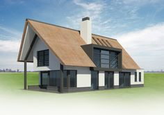 In ontwikkeling 16 - Bekhuis & KleinJan Modern House Plans, Modern House Design, Roof Window, Modern Barn, Big Houses, Modern Architecture, Bungalow, Building A House, Beach House