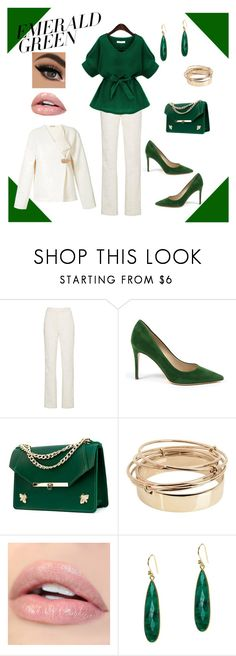"""Emerald Green"" by glassdreamshawaii ❤ liked on Polyvore featuring Calvin Klein 205W39NYC, Angela Valentine Handbags, Valentino, Jemma Sands, Nehera, Winter, fashiontrend and emeraldgreen"