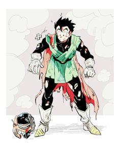 Gohan in Saiyaman Suit Dragon Ball Gt, Dragon Age, Dbz Gohan, Watercolor Peacock, Great Saiyaman, Kai, Dbz Memes, Dbz Characters, Fanart