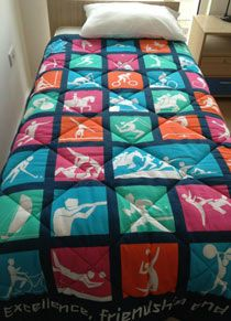 I want this Olympic quilt.