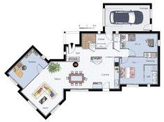 Maison familiale 13 - Détail du plan de Maison familiale 13 | Faire construire sa maison