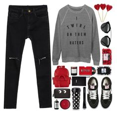 """""""I Twirl on them Haters"""" by fyenksfiona ❤ liked on Polyvore featuring BUSCEMI, Vans, Beta Fashion, Anya Hindmarch, Kate Spade, Byredo, Sloane Stationery, Givenchy, Sort of Coal and vans"""