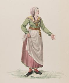 Kvinna, 1780. Folk Clothing, Lappland, Vintage Images, 18th Century, Survival, Watercolor, Costumes, Antiques, Working Class