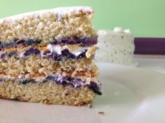Good morning and Happy Taste Test Tuesday. Today we will be sampling our original Blueberry Cake; moist cake layers filled with fresh Blueberries, with delicious Lemon wafers placed between them for a hidden crunch, and surrounded with a flavorful Basil Cream Cheese Frosting. If you're not in summertime mode yet, you will be after tasting this cake. See you for lunch!