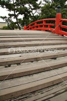 Most - sumiyoshi taisha svatyně, osaka, Japonsko — Stock Fotografie © imagex #12465992