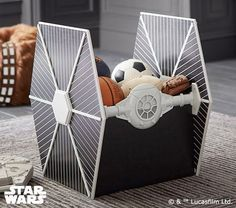 Add This AT-AT Bookcase And TIE Fighter Storage To Your 'Star Wars' Bedroom