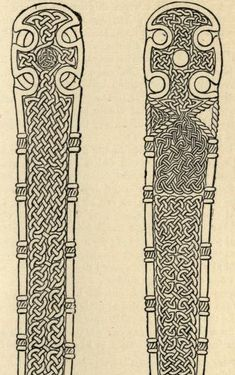 Celtic Art in Pagan and Christian Times, page 188. 1904. Author: J. Romilly Allen (1847 - 1907). Image taken from book. Cross at Neuadd  Siarman near Builth, Brecknockshire.