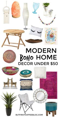 boho room diy Modern Boho Home Decor That You Can - roomdiy Unique Home Decor, Vintage Home Decor, Cheap Home Decor, Modern Decor, Modern Furniture, Furniture Logo, Black Furniture, Furniture Vintage, House Furniture
