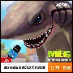 The MEG comes to Hungry Shark Evolution! Megalodon, Very Hungry, Great White Shark, Marvel Wallpaper, Animal Games, Shark Week, Evolution, Halloween Face Makeup, Anime