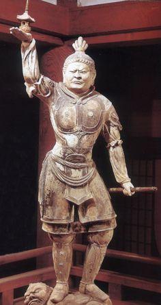 Tamon-ten (north) Statues of the Four Heavenly Kings of Tōdai-ji