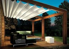 Terasse. Pergola. Toit retractable.