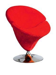 Mid-Century Classic International Design USA Tulip Leisure Chair, Red at MYHABIT $279