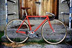 Red Fuji Feather with brown leather trim - next bike