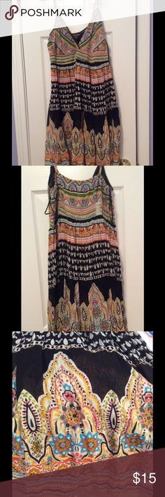Bohemian Summer Dress Super comfortable and light.  Awesome detailing around bottom. Dresses