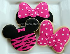 Minnie Mouse Sugar Cookies - Calculated CookiesCalculated Cookies