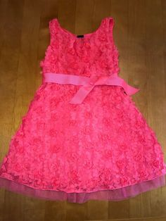 82683b0fce044 Girl s Cute GAP Kids Coral Pink Flower Dress Size 6 GUC Low Shipping!   fashion  clothing  shoes  accessories  kidsclothingshoesaccs   girlsclothingsizes4up ...
