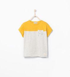 Mixed sleeve T-shirt