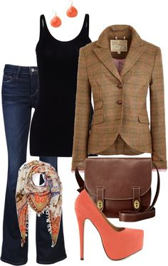 """""""jeans day at work"""" by lorien72 on Polyvore"""