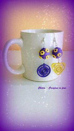 Orecchini in fimo handmade eleganti , by Chiara - Creazioni in fimo, 8,00 € su misshobby.com