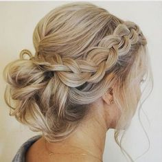 50 fabulous braided updo women ideas - new .- 50 fabelhafte geflochtene Hochsteckfrisur Frauen Ideen – New Site 50 fabulous braided updo women ideas – # updo – - Homecoming Hairstyles, Bride Hairstyles, Pretty Hairstyles, Hairstyle Ideas, Homecoming Updo, Lazy Hairstyles, Up Hairstyles For Wedding, Prom Updo, Bangs Hairstyle