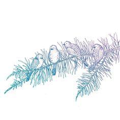 #workinprogress #wip #process #design #illustration #birds #branches #inkygoodness