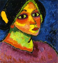 The Athenaeum - Girl in Bonnet (Alexei Jawlensky - )